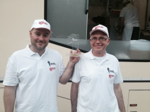 La coppia Iacozzilli-Pascale (gelateria Cremì a Trastevere) vincitori con il gusto Roma e dintorni
