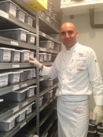 Le Bontique-gelateria Roma- mastro gelatiere Emanuele Montana