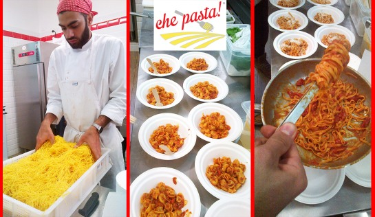 """""""che pasta!""""-pasta bar gourmet - roma- chef Ben Hirst-pasta di Campofilone"""