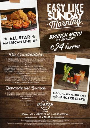hard rock cafe rome- Easy like sunday morning- brunch domenicale- american brunch a roma