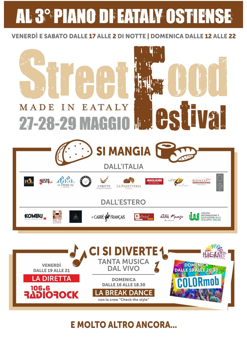 locandina a4 streetfood