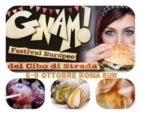 Gnam! Festival Europeo del Cibo di Strada- Roma-Eur-6-7- 8-9 ottobre 2016-streetfood
