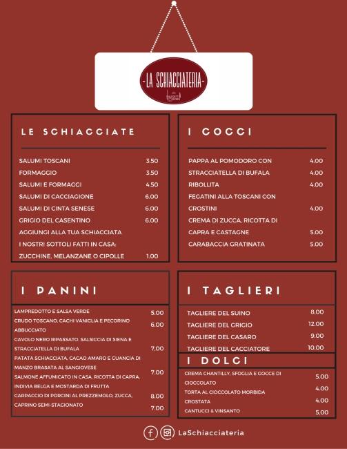La Schiacciateria dei Maledetti Toscani-Roma-Montesacro- streetfood toscano- schiacciate-lampredotto-cocci-taglieri-dolci-cucina tipica toscana