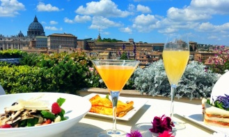 Les Etoiles-Hotel Atlante- quartiere Prati-Roma-terrazza-menu all-day-long