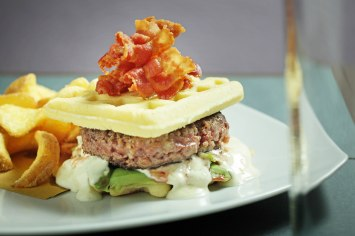 Waffle burger