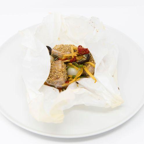 Cartoccio–tonno e verdure