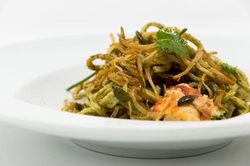 Insalata di spaghetti–astice e verdure2