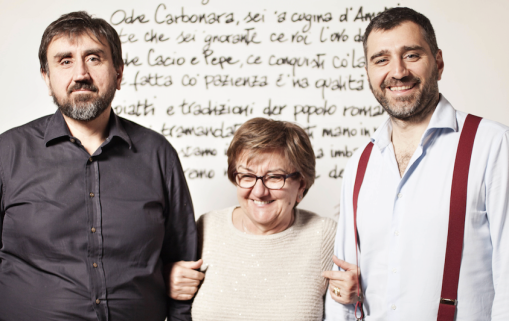 Famiglia Mori da sin- Alessandro Mori - Mamma Giuliana - Francesco Mori