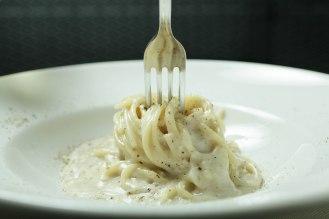 Spaghetti Verrigni Cacio e pepe