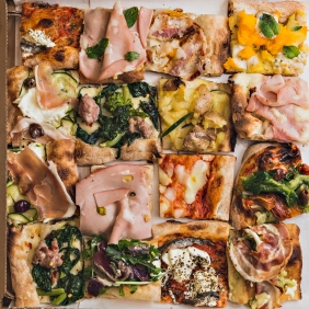 TRANCI DI PIZZA CARTONE